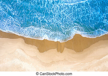 blue sea seen from above
