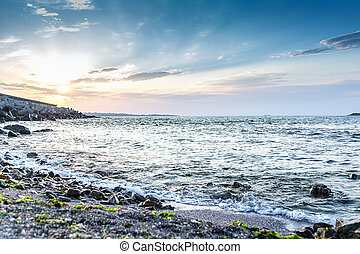 blue sea sky beach