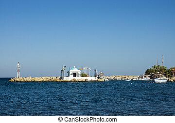 blue sea sky landscape