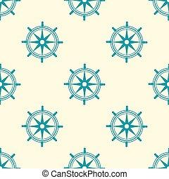 Blue sea steering wheel pattern vector eps 10  design