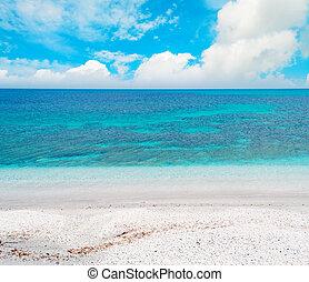 blue sea under clouds