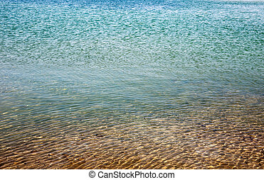 Blue sea water in calm