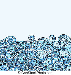 Blue Sea Wave background