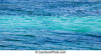 Blue sea with waves