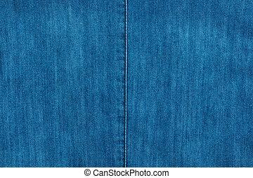 Blue seam on  denim, fashion