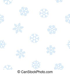 Blue seamless background of snowflakes.