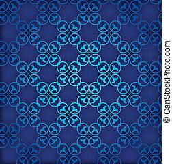 Blue seamless background. Retro ornament. Vector EPS10