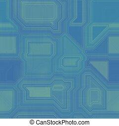 Blue seamless circuit board