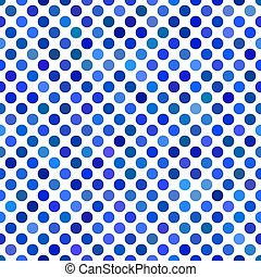 Blue seamless dot pattern background - vector graphic design