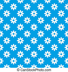 Blue seamless floral background - Illustration of a seamless...