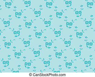 Blue Seamless Flower Background
