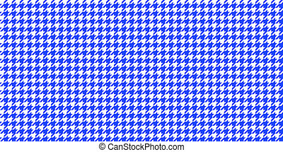 Blue Seamless Houndstooth Pattern Background. Traditional Arab Texture. Fabric Textile Material.