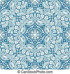 Blue seamless pattern. Design for dutch tile, background, ...
