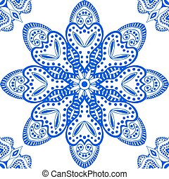 Blue seamless pattern. Design for dutch tile, background,...