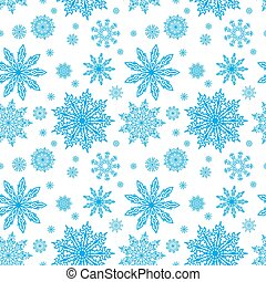 blue seamless pattern with snowflakes to christmas design