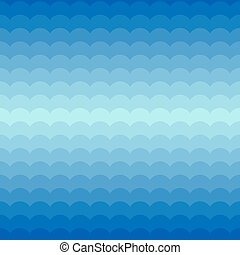 Blue seamless pattern with waves
