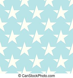 blue seamless pattern with white star. vector