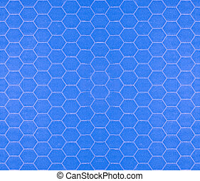 Blue seamless tileable hexagonal background