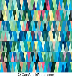 Blue Seamless Triangle Abstract Background