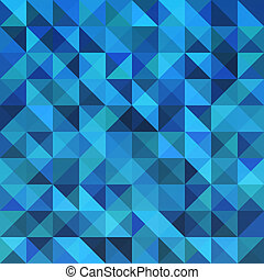Blue seamless triangle abstract pattern.