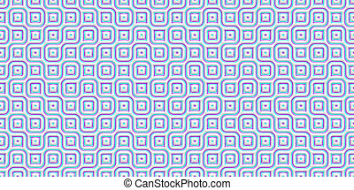 Blue Seamless Truchet Tilling Background. Geometric Mosaic Connections Texture. Tile Circles Labyrinth Backdrop.
