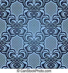 Blue seamless wallpaper pattern - Seamless ornament. Simply ...