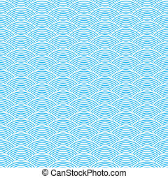 blue seamless waves abstract pattern