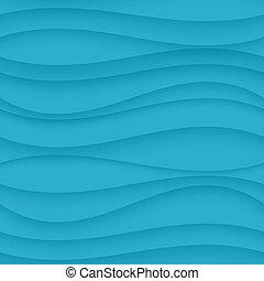 Blue seamless Wavy background texture. - Vector Blue...