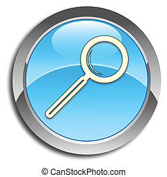 Blue search button - Blue button with search icon