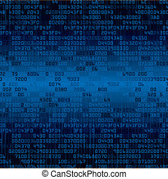 Blue security background with HEX-code