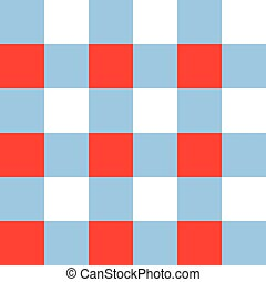 Blue Serenity Red White Chessboard Background