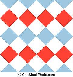 Blue Serenity Red White Diamond Background
