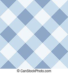 Blue Serenity White Diamond Chessboard Background