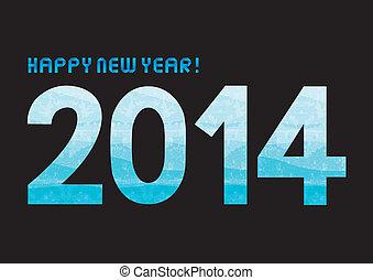 Blue shade new year 2014