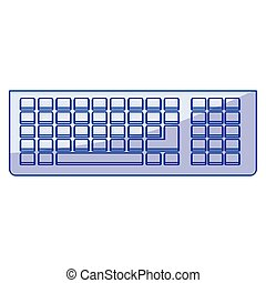 blue shading silhouette of computer keyboard