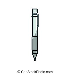 blue shading silhouette of pen icon