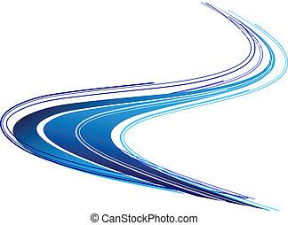 Blue shape isolated on the white