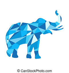 Blue shark silhouette. animal with abstract design background.