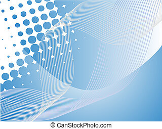 blue shapes - vector illustration of an abstract blue...