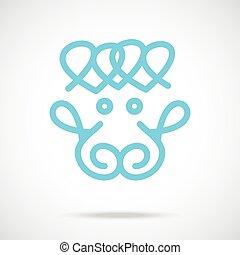 Blue Sheep Vector Icon