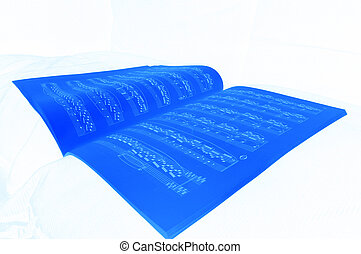 Blue sheet music