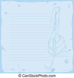 Blue sheet of paper