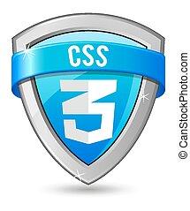 Blue shield CSS 3
