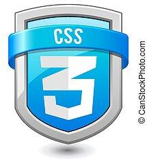 Blue shield CSS3