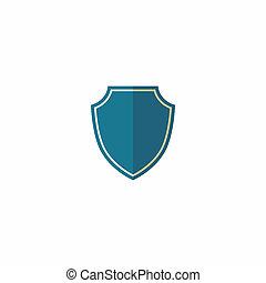 blue shield symbol isolated on white background