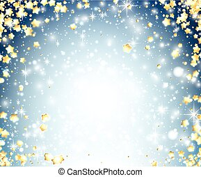 Blue shining background with stars.