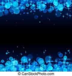 Blue shining bokeh frame abstract background