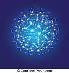 Blue shining cosmic grid - Blue shining cosmic hexagonal...