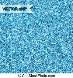 Blue shining glitter vector seamless pattern