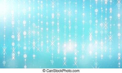 blue shining hanging circles